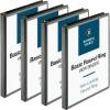 Business Source Round-Ring View Binder - 1/2
