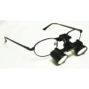 Feather Sight Loupes:  #FT1 Standard Frame - Flip-Up (3.0x Magnification)